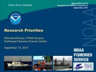 Inputs to Assessment Models - Pacific Fishery Management Council
