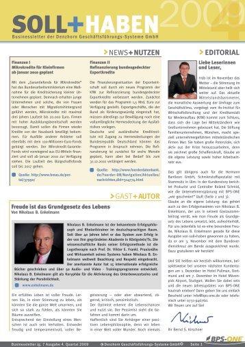 EDITORIAL GAST+AUTOR NEWS+NUTZEN - Denzhorn
