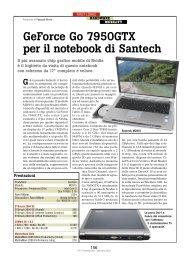 GeForce 7950GTX per il notebook multimediale ... - PC Professionale