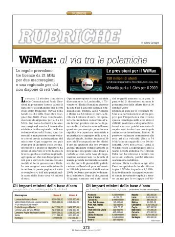 WiMax: al via tra le polemiche - PC Professionale