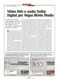 Video Hdv e audio Dolby Digital per Vegas ... - PC Professionale