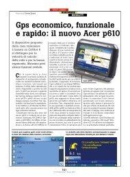 Gps economico, funzionale e rapido: il nuovo ... - PC Professionale