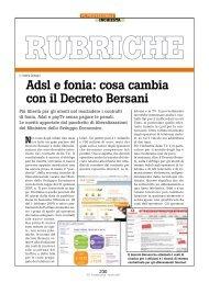 Adsl e fonia: cosa cambia con il Decreto Bersani - PC Professionale