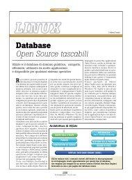 Database Open Source tascabili - PC Professionale