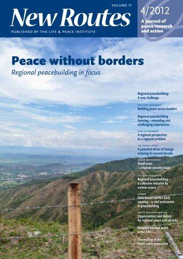 Peace without borders - the Department of Peace and Conflict ...