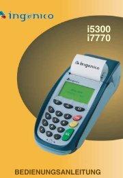 Ingenico i5300 & i7770 - PCS Paycard Service GmbH
