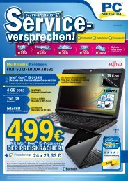 Monatsflyer Oktober 2011 - PC Spezialist Moers