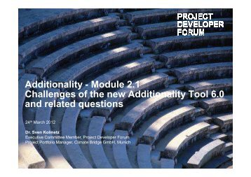 Additionality - Module 2.1 Challenges of the new Additionality ...