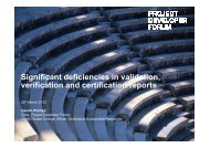 Significant deficiencies in validation, verification and ...