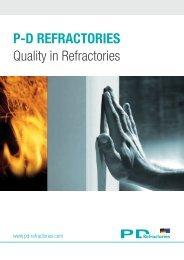 Quality in Refractories P-D RefRactoRies
