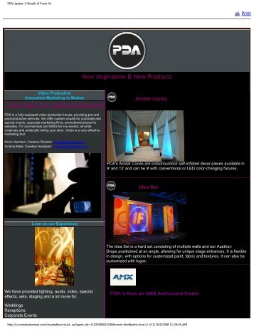 Spring 2008 Newsletter - PDA