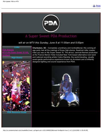 Mid-Spring 2008 Newsletter - PDA