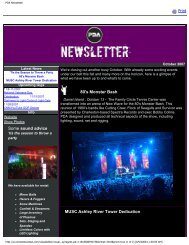 Fall 2007 Newsletter - PDA