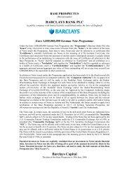 Barclays, Base Prospectus 2006