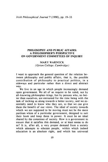 Irish Philosophical Journal 7 (1990), pp. 19-33 (Girton College ...