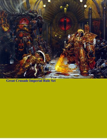 Great Crusade Imperial Rule Set - PDF Archive