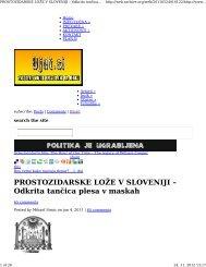 PROSTOZIDARSKE LOŽE V SLOVENIJI – Odkrita ... - PDF Archive