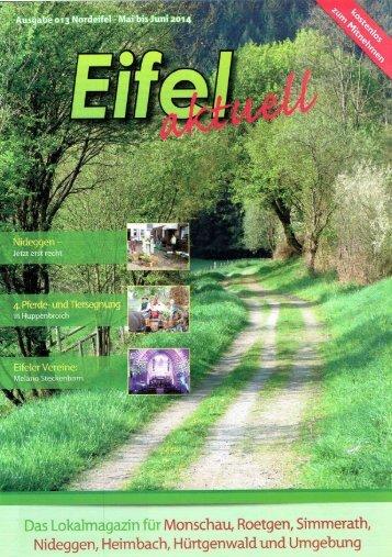Eifel Aktuell Ausgabe 05.2014
