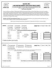 glock, inc. law enforcement discount price sheet - PDF Archive