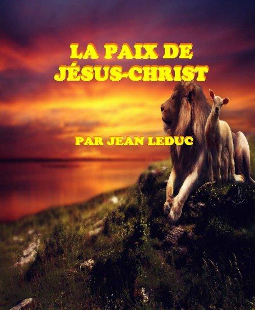 La paix de Jésus-Christ