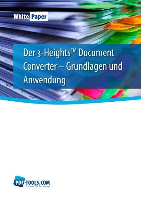 Whitepaper – der 3-Heights™ Document Converter ... - PDF Tools AG