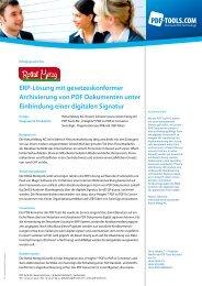 Erfolgsgeschichte als PDF - PDF Tools AG