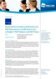 Erfolgsgeschichte INTEGRAL concept - PDF Tools AG