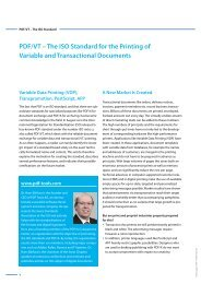 PDF/VT – The ISO Standard for the Printing of ... - PDF Tools AG
