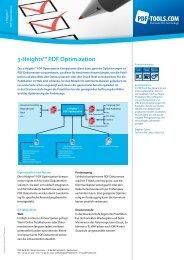 Produktflyer – 3-Heights™ PDF Optimization - PDF Tools AG