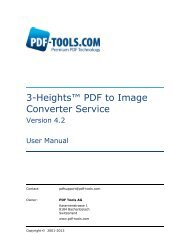 3-Heights™ PDF to Image Converter Service, User ... - PDF Tools AG