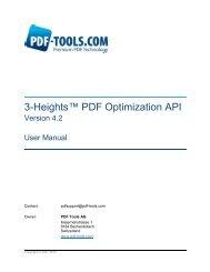 3-Heights™ PDF Optimization API, User Manual - PDF Tools AG