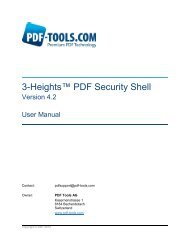 3-Heights™ PDF Security Shell - PDF Tools AG