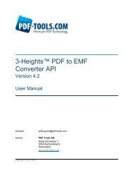 3-Heights™ PDF to EMF Converter API - PDF Tools AG