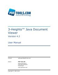 3-Heights™ Java Document Viewer, User Manual - PDF Tools AG