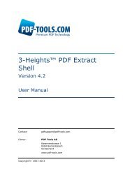 3-Heights™ PDF Extract Shell, User Manual - PDF Tools AG