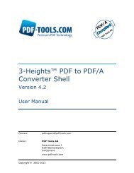 3-Heights™ PDF to PDF/A Converter Shell, User ... - PDF Tools AG