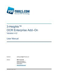3-Heights™ OCR Enterprise Add–On - PDF Tools AG