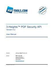 3-Heights™ PDF Security API - PDF Tools AG