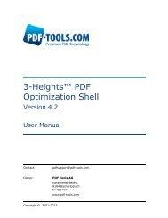 3-Heights™ PDF Optimization Shell, User Manual - PDF Tools AG