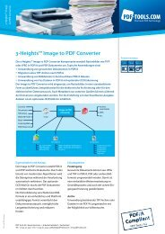 Product Flyer - 3-Heights(TM) Image to PDF Converter - PDF Tools AG