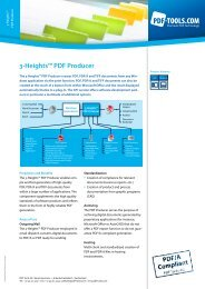 Product Flyer – 3-Heights™ PDF Producer - PDF Tools AG