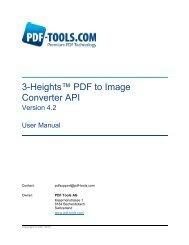 3-Heights™ PDF to Image Converter API - PDF Tools AG