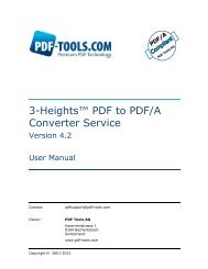3-Heights™ PDF to PDF/A Converter Service, User ... - PDF Tools AG