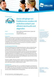 Erfolgsgeschichte Oppolis Software Ltd - PDF Tools AG