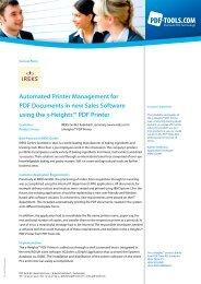 Success Story IREKS GmbH - PDF Tools AG