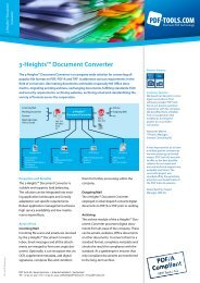 Product Flyer - 3-Heights™ Document Converter - PDF Tools AG
