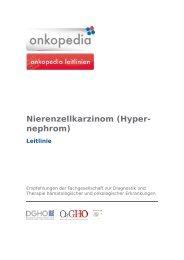 Nierenzellkarzinom (Hyper- nephrom) - DGHO Onkopedia