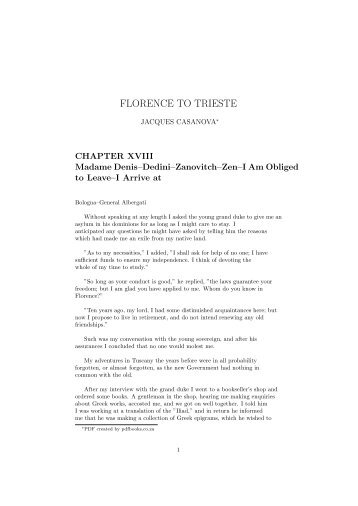 FLORENCE TO TRIESTE - PDFbooks.co.za
