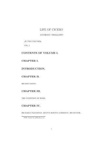 LIFE OF CICERO - PDFbooks.co.za