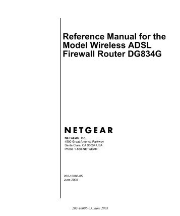 Reference Manual for the Model Wireless ADSL Firewall Router ...